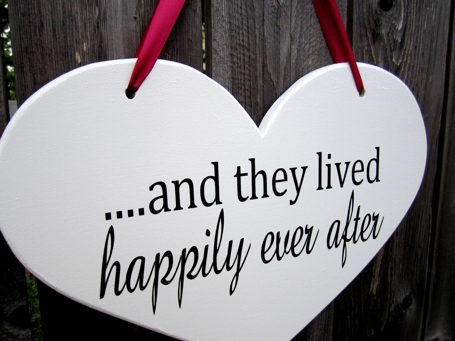 10 X 15 Wooden Heart Wedding Sign Double Sided