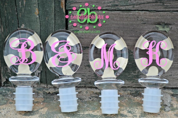 OVAL WINE STOPPER - Set of 8 - Party Favor - Bridesmaid Gift - Wedding