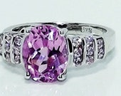 Pink Sapphire, Simulated Pink Diamond Ring