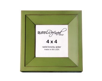 4x4 Haven picture frame - Green Apple