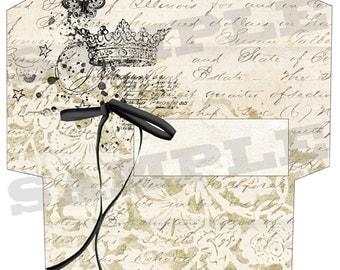 French vintage style envelope No 3 - PRINTABLE - digital collage sheet - set of 1 - Printable Download jpg