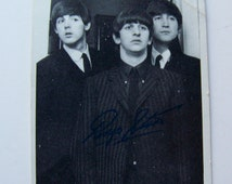 Vintage Beatles Trading Card 1960s Beatles Bubble Gum Trading Card
