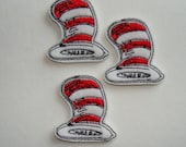 OUR FAVORITE CAT Hat Machine Embroidered Embellishment / Appliqué ~ Set Of 3 ~ Available Cut Or Uncut ~ Ready To Ship