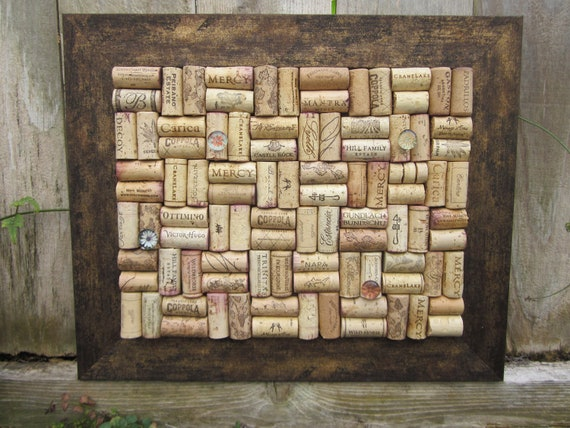 Wine Cork board with rustic frame