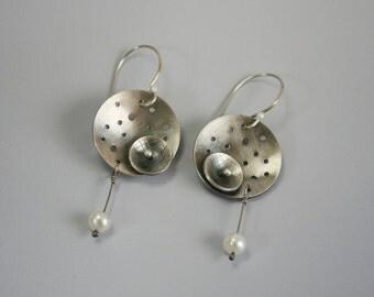 Sterling Silver Calder Earrings