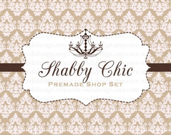 Shabby Chic Premade shop set