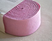 Vintage pink grosgrain ribbon, 10 meters