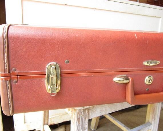 Vintage  Chestnut Suitcase-Taperlite