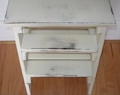 Step ladder, stool,  white distressed, gift idea