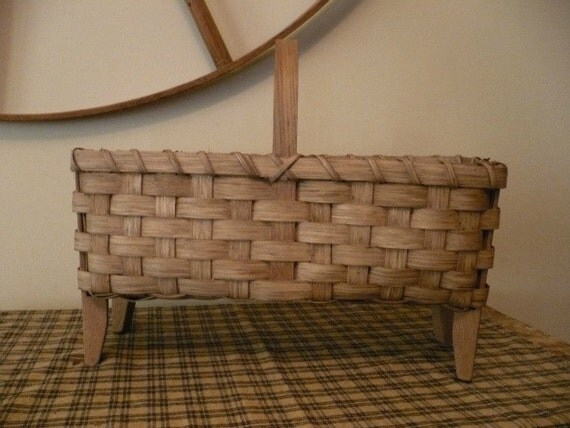 Reserved for Joni - Wool Drying Basket Handwoven Primitive Reproduction
