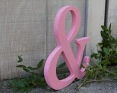 """12"""" AMPERSAND Wood Sign-Hand-cut and Hand-painted Chic Decor"""