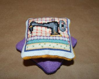 Cross Stitch Sewing Machine Pin Cushion