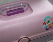 Vintage 80s Caboodles Diva Tacklebox Organizer Makeup Case