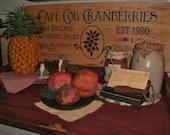Cape Cod Cranberries sign