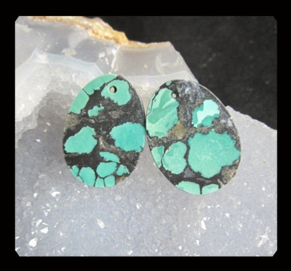 Turquoise Earring Beads,26x19x3mm,5.82g