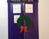 Doctor Who TARDIS Christmas Card