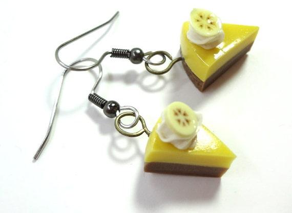Banana Topped Creme Pie Earrings
