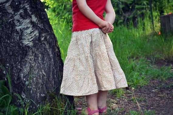CLEARANCE SALE // 70% off - Girl's Ruffled Summer Skirt - Ready to Ship