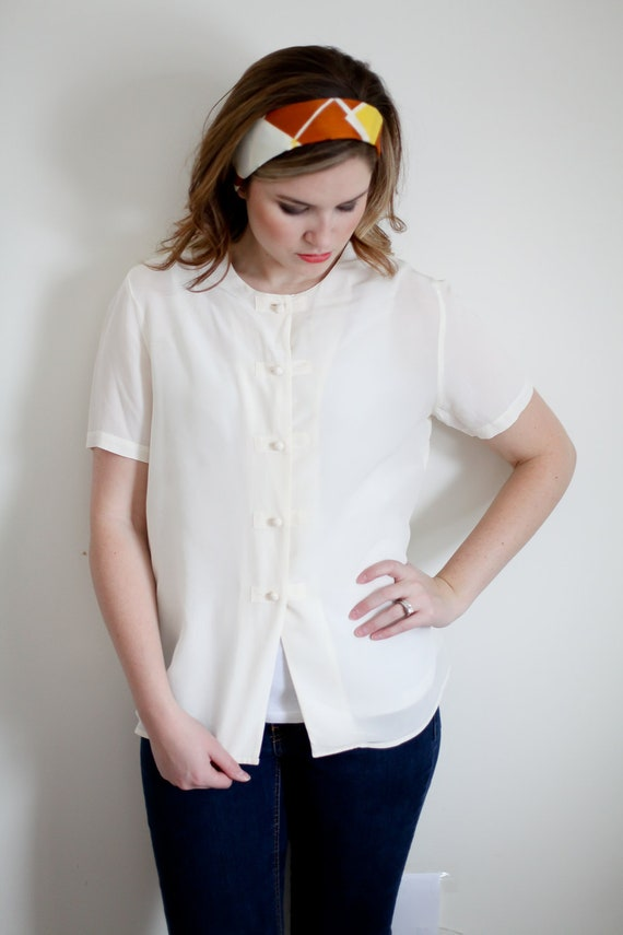SALE: 50% off  use THINKSPRING  White Blouse