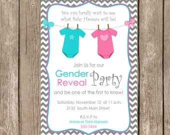 Wheels or Heels Gender Reveal Invite Gender Reveal