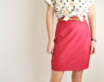 Small Red Pencil Skirt