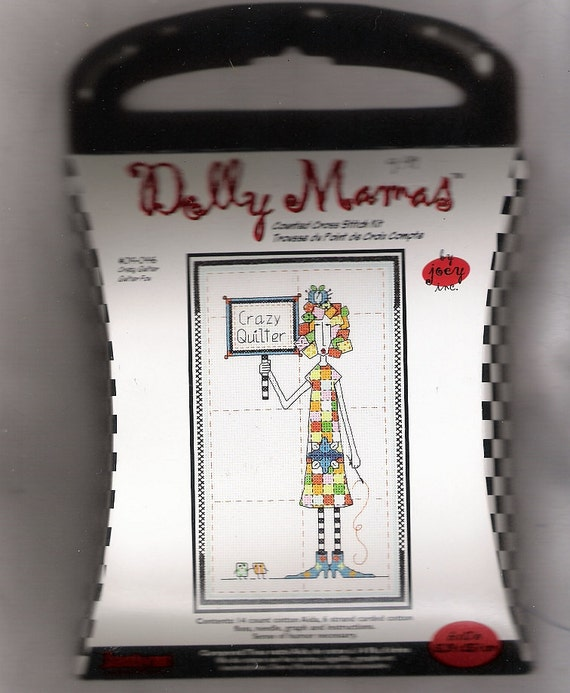 """Crazy Quilter Dolly Mamas Counted Cross Stitch Kit, , 6"""" x 10"""", with Floss Craft Supplies YacketUSA"""