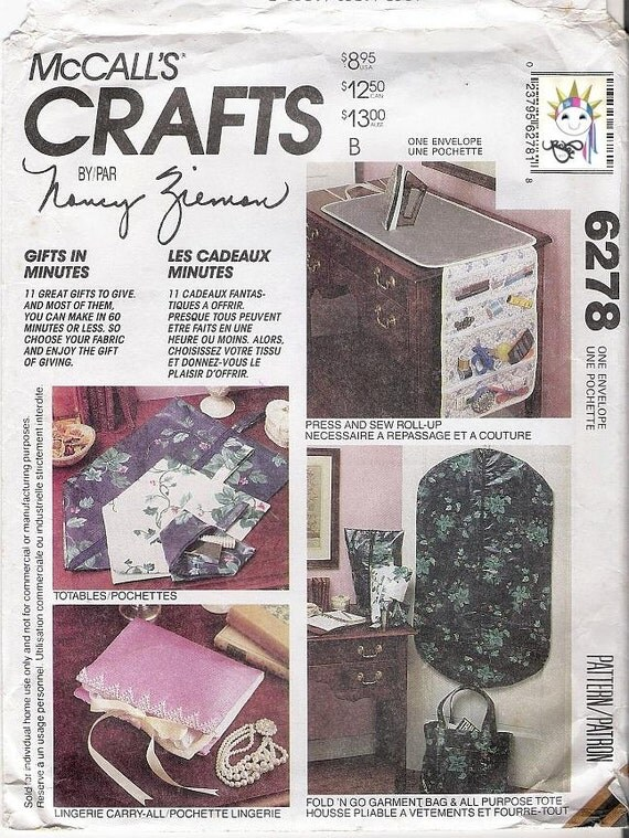 McCalls 6278 90s Craft Patterns Garment Bag Pattern Placemats Pattern Casserole Wrap Pattern  Uncut Patterns Sewing Supplies YacketUSA