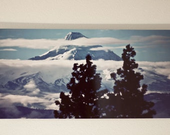 Mt Hood Photograph, mountain, Oregon, 12x24 metal print, ready to hang