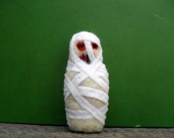cat toy catnip mummy  needle felted