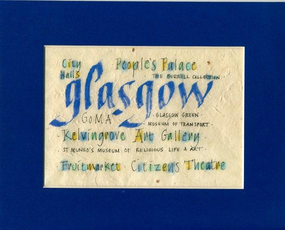 Original Calligraphy travel memento gift