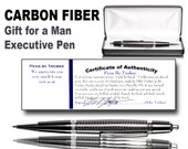 Fathers Day Gift Carbon fiber pen gift for a man executive writing ballpoint