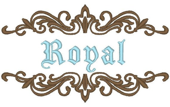 Font frame for machine embroidery monogram fonts