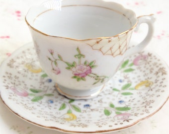 Vintage Porcelain Teacup and Saucer