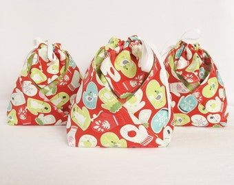 Origami Gift Bag -  Red Tinsel by Maude Asbury for Blend Fabrics