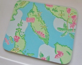 Mouse Pad made with Lilly Fabric Island Hopping