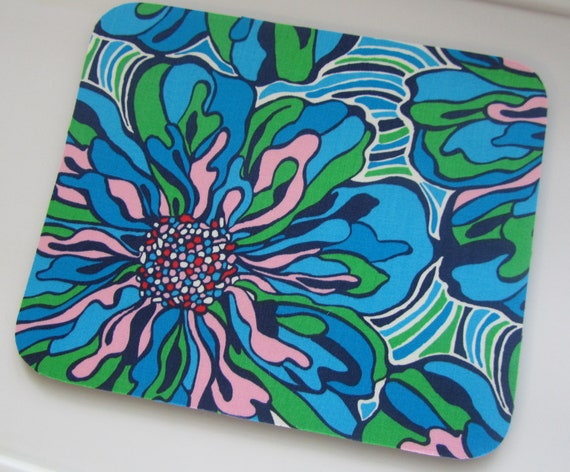 Lilly Pulitzer Fabric Mouse Pad  Multi Big Dress Rehearsal