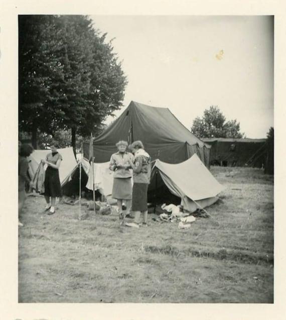 "Vintage Photo ""Camping Memories"", Photography, Paper Ephemera, Snapshot, Old Photo, Collectibles - FT031"