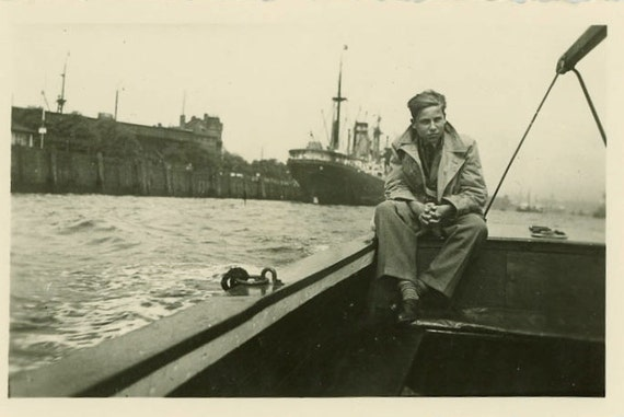 "Vintage Photo ""Riding Waters Edge"", Photography, Paper Ephemera, Snapshot, Old Photo, Collectibles - 0039"
