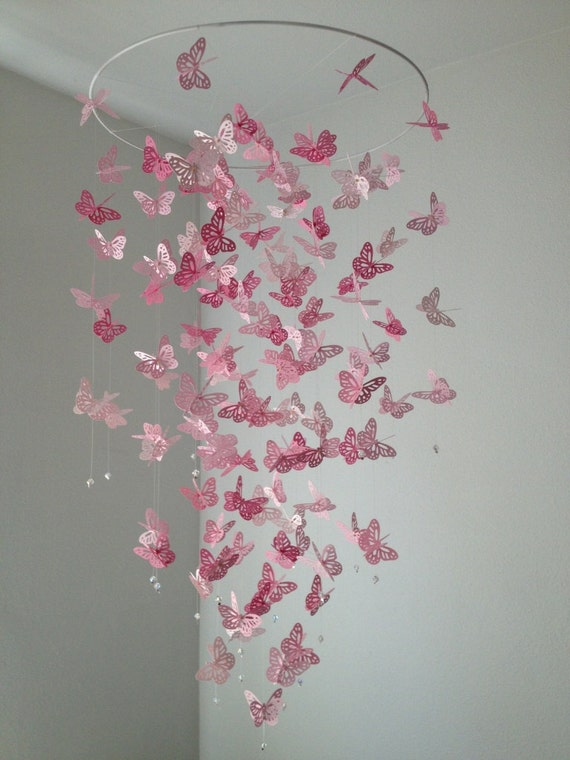 Butterfly mobile monarch butterfly chandelier mobile like this item aloadofball Choice Image