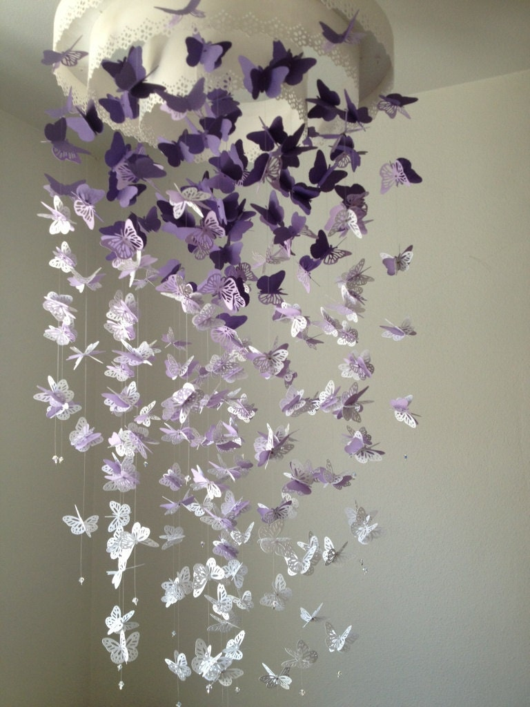 paper butterfly mobile I fall in love with this stunning butterfly chandelier mobile every time i look at it it is not only cute, but it would make for a great handmade gift, perfect for any room (including your nursery or little girl's room) and for any ocasion imagine hanging it outside for a cool party with friends.