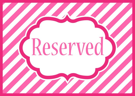 Reserved for Becky.