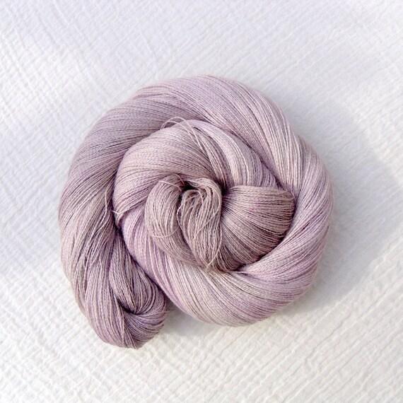 Baby Alpaca and Silk Cobweb Laceweight Yarn - Seashells 2
