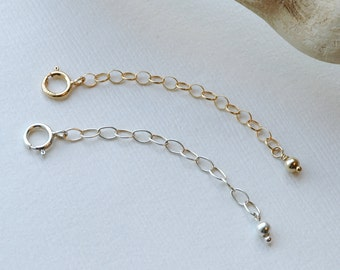 Extender Chains Necklaces, Removable, Perfect Fit, Add On, Customized, Personalized, Sterling Silver, 14k Gold Filled, Rose Gold