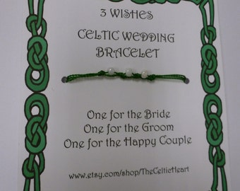 25 Celtic 3 Wishes Wedding Bracelet Favors