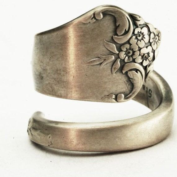 Vintage Buttercup Floral Sterling Silver Spoon Ring, Handmade in Your Size (2453)