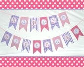 SALE: Ready to Ship Pink and Purple Princess Birthday Banner