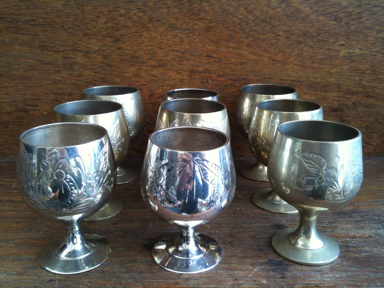 Vintage English Small Goblets Silver Plated Epns Collection Of