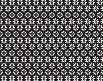 1 Yard of Tuxedo Black Daisy by Doodlebug Design for Riley Blake