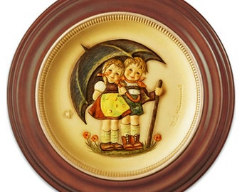 1975 First Edition/First Anniversary Hummel Plate No. 280 -- Stormy Weather