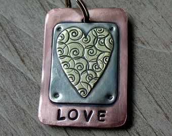 much LOVE key fob or pendant